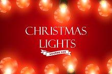 Christmas Lights. Holiday Vector Set