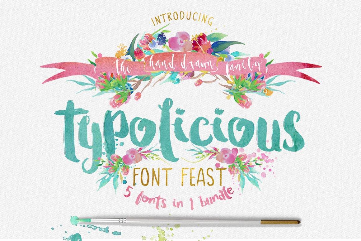 Typolicious Font Bundle Third Storey Display Fonts Creative Market