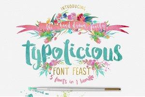 Typolicious Font Bundle Third Storey