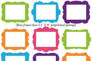"""8.5"""" x 11"""" Frames Photoshop Brushes"""