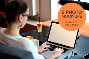 9 photo mock-ups - devices