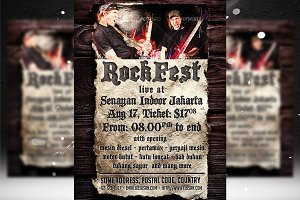 Rock Fest Flyer Templates