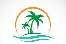 Vector of summer logo design.