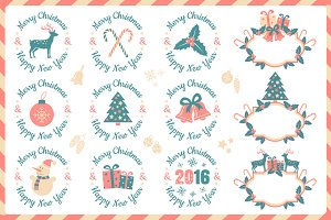 Christmas logos and banners