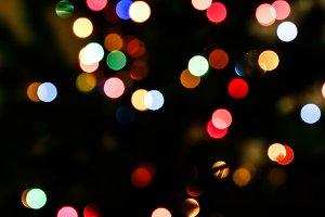 Winter Lights. Bokeh