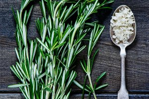 Rosemary and grey salt