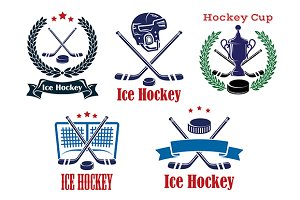 Ice Hockey sporting heraldic emblems