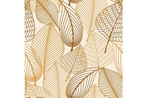 Atumnal seamless pattern with brown