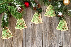 Tree Shape Cookies for Xmas
