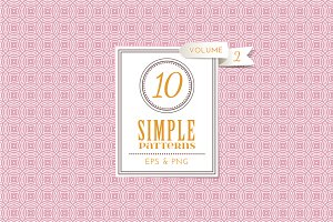 Set of 10 simple patterns Vol. 2