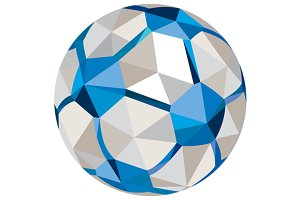 Soccer Football Ball Low Polygon