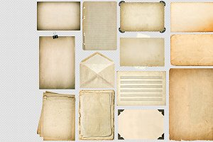Old paper sheets with edges PNG