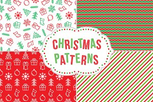 Christmas patterns + greeting card