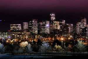 Denver Skyline - Night Cityscape