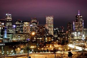 Denver skyline - night cityscape 2