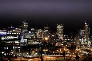 Denver skyline - night cityscape 3