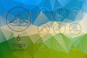 6 yoga icons