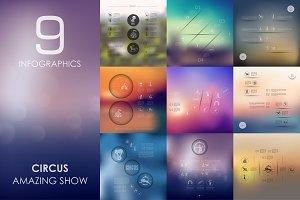 9 circus infographics