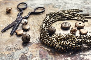 Retro crafts from beads.