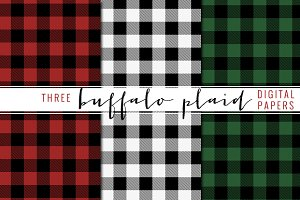 buffalo plaid digital paper