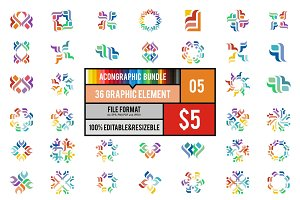 36 Graphic Element Bundle #5
