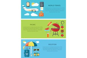 World Travel Picnic Vacation