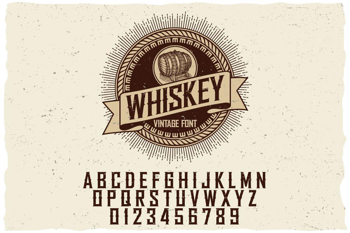 whiskey label font display fonts creative market