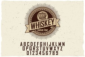 Whiskey Label Font