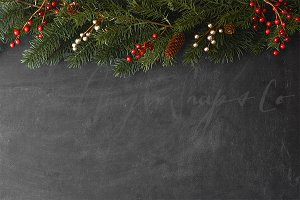Vertical Chalkboard and Garland