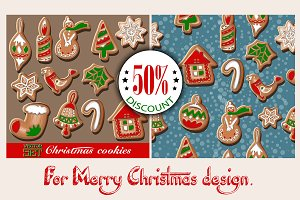 Christmas cookies set.