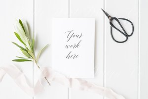 Styled stock photo - Wedding card