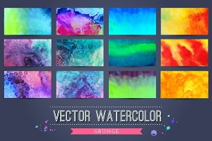 40 colorful grunge textures