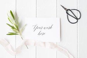 Styled stock photo - Wedding card