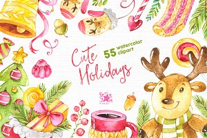 Cute Holidays. -20% Christmas Bundle