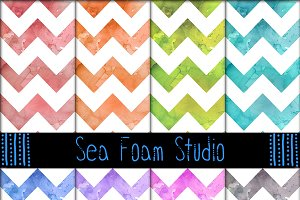 Watercolor Chevron Pack