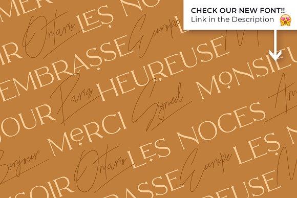 Classy Marisa - Elegant Typeface in Sans-Serif Fonts - product preview 29