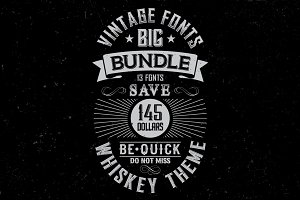 Whiskey Fonts BIG Bundle
