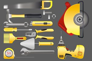Set Tools for home repair.