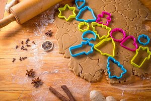 Baking Christmas gingerbread