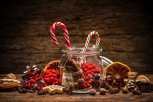 Sweet striped candy canes