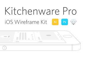 Kitchenware Pro - iOS Wireframe Kit