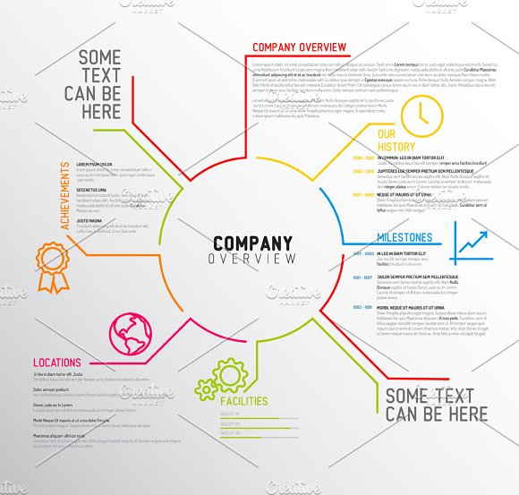 Company Overview Template Design ~ Presentation Templates ~ Creative ...