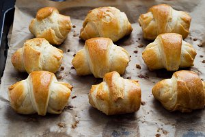 Mini croissant with cheese