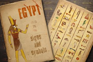 Egypt signs and symbols collection