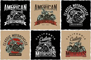 Motorcycles T-shirt Labels