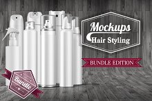 Hair Styling Mockups Bundle