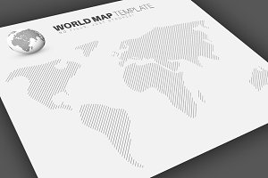 World Map Infographics Template 1