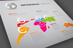 World Map Infographics Template 2