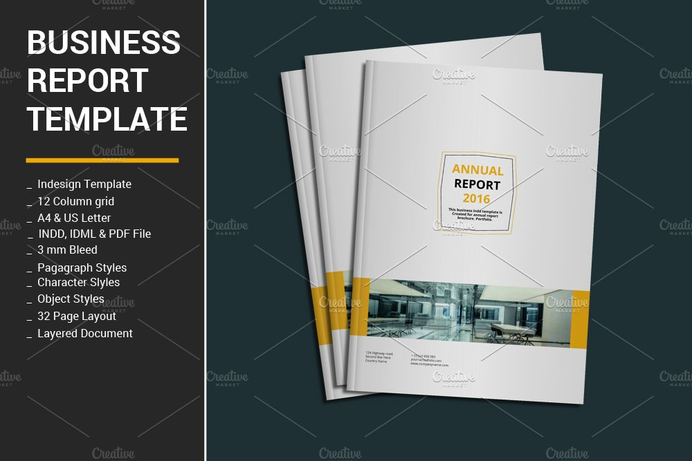 Business report template brochure templates creative market cheaphphosting Image collections