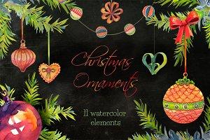 Christmas ornaments clip arts